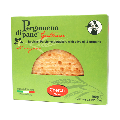 Picture of PARCHMENT GUTTIAU BREAD WITH OREGANO gr. 100 - CHERCHI