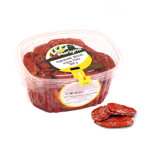 Picture of Dried tomatoes in salt 500g jar