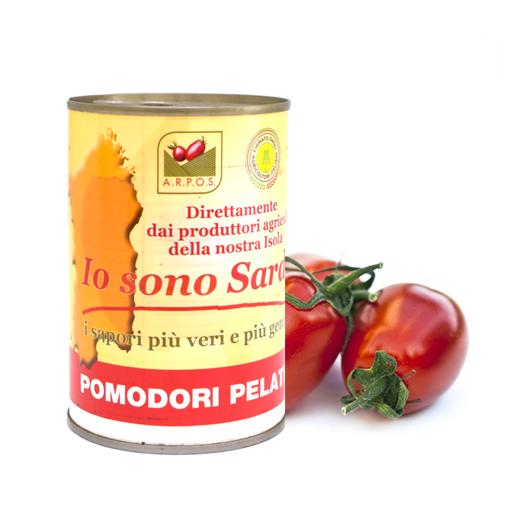 """Picture of PEELED TOMATOES OF SARDINIA - """" IO SONO SARDO"""" gr. 400 - A.R.P.O.S"""