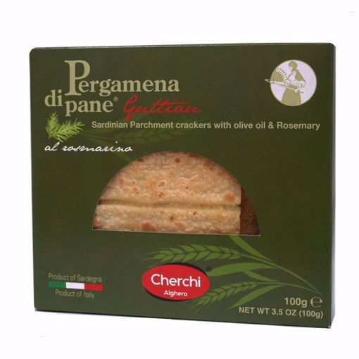 """Picture of """"PARCHMENT"""" GUTTIAU BREAD WITH ROSEMARY gr. 100 - CHERCHI"""