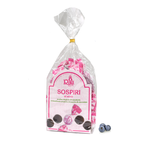 Picture of MYRTLE SOSPIRI- TYPICAL SARDINIAN SWEETS FLAVORED WITH MYRTLE 300 gr.-  RAU
