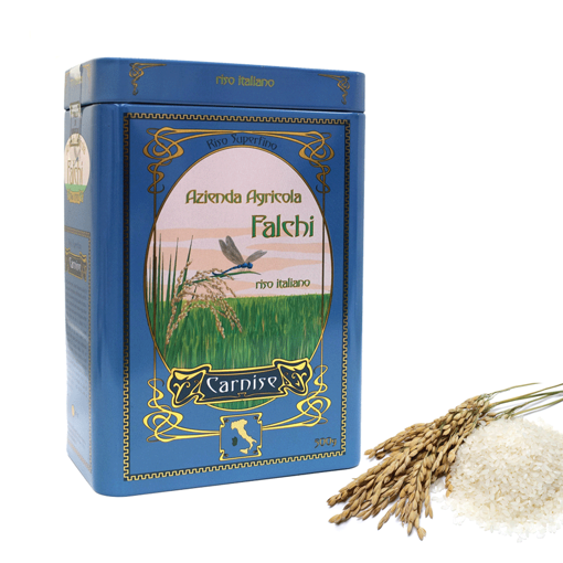 Picture of Sardinian CARNISE  rice in a presentation jar 500g