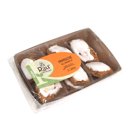 Picture of ORANGE PAPASSINE-TRADITIONAL BISCUITS WITH ALMONDS AND ORANGE  gr. 200- RAU