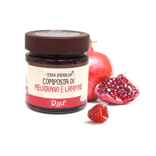 Picture of POMEGRANATE AND RASPBERRIES JAM gr. 260 - RAU SARDO&DOLCE