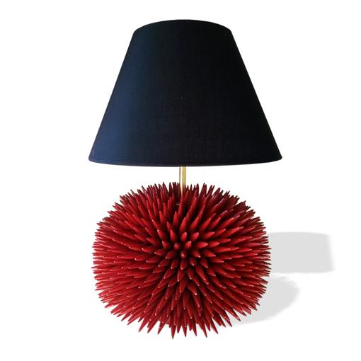 """Picture of TABLE LAMP """"SEA URCHIN"""" - CERAMICHE LEONI"""