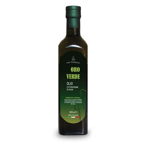 "Picture of MONOCOLTIVAR ""BOSANA"" EXTRA VERGIN OIL(GREEN GOLD) - marasca bottle 50 cl -SAN PASQUALE"