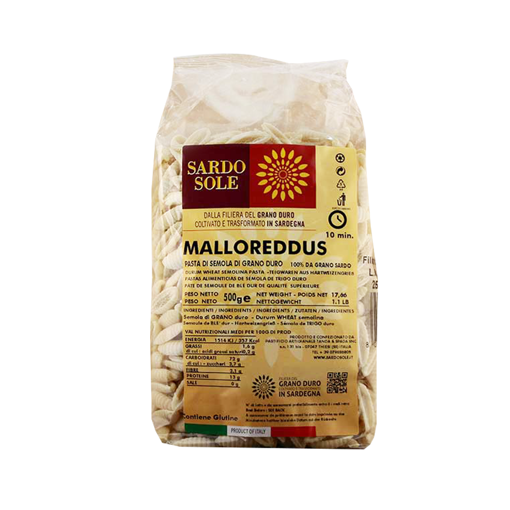 Image sur MALLOREDDUS DI SEMOLA 100% GRANO SARDO gr. 500 - SARDO&SOLE