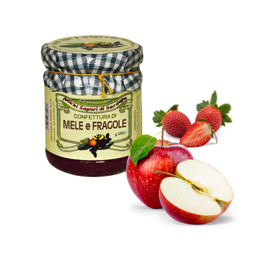 Picture of APPLE AND STRAWBERRY JAM gr. 250 -  AZIENDA AGRICOLA IBBA