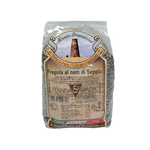 Picture of SARDINIAN BLACK SQUID INK FREGOLA  gr. 500 -TANDA E SPADA