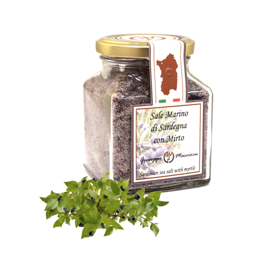 Picture of WHOLE SEA SALT OF SARDINIA & MYRTLE gr 210- GIUSEPPE MACCIOCU