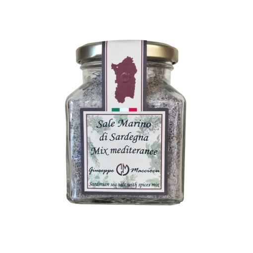 Picture of SARDINIAN SEA SALT & MEDITERRANEAN SPICES MIX gr. 210- GIUSEPPE MACCIOCU