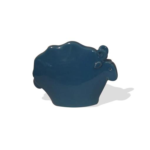Immagine di Ariete azzurro in ceramica