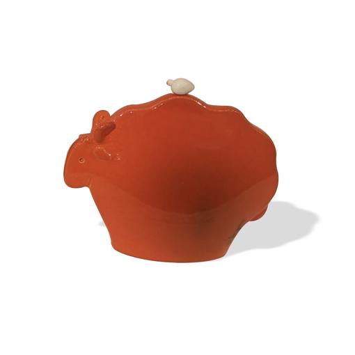 Picture of Muflone arancione in ceramica
