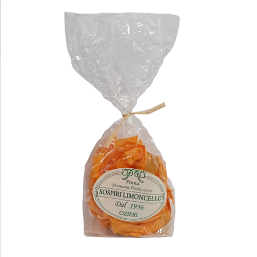 Picture of LEMON SOSPIRI- TYPICAL SARDINIAN SWEETS WITH ALMOND DOUGH AND LEMON FLAVOURED 200 gr. - DOSART