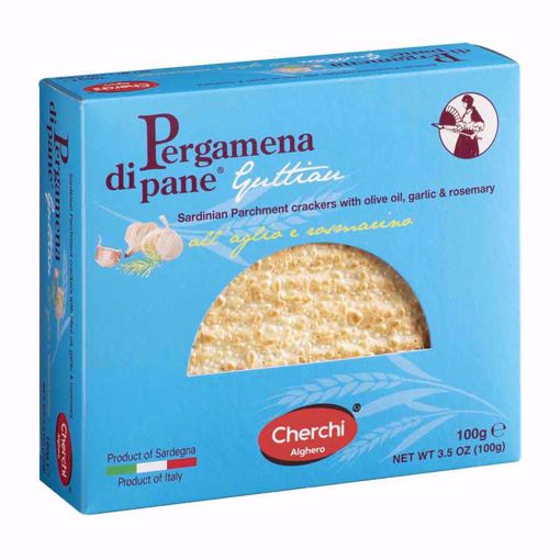 Picture of PERGAMENA OF GUTTIAU BREAD WITH GARLIC AND ROSEMARY  gr. 100 - CHERCHI