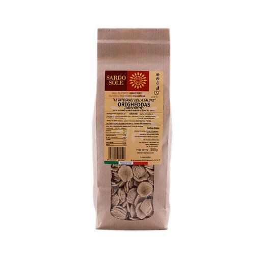 Picture of ORIGHEDDAS INTEGRALI (ORECCHIETTE) 100% GRANO SARDO  gr. 500 - SARDO SOLE