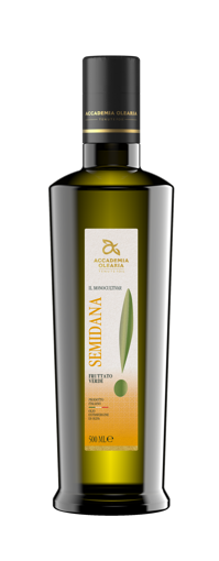 "Picture of  MONOCULTIVAR ""SEMIDANA"" - doric bottle cl. 50- ACCADEMIA OLEARIA"